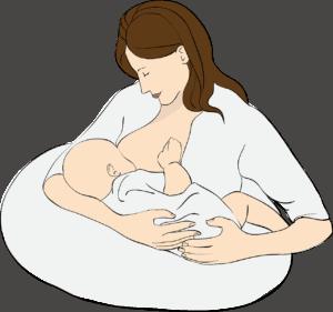 אמא מניקה תינוק