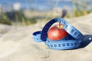 סרט מדידה ותפוח